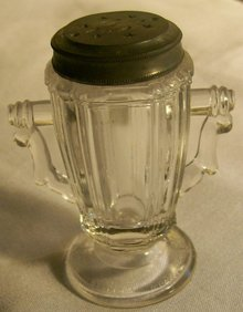 Riverside #76 Frosted Chick/Chicken Early American Pressed Glass Shaker
