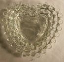 Imperial Candlewick Heart Dish Set of 3