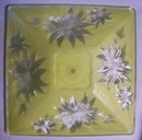 Virden Glass Poinsettia Ceiling Light Shade 1940's Canary Yellow