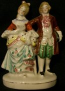 Occupied Japan Figurine:  Colonial Couple