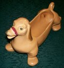 Weller Pottery Figural Dachshund Dog Planter 1930's-40's Brown Marked