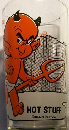 Pepsi/Harvey Cartoons Collector's Glass:  Hot Stuff