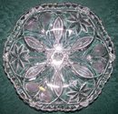 Brilliant Cut Glass Shallow Bowl