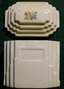 Harker Petit Point/Cross-Stitch Ceramic Drippings Jar & Lid 1930's