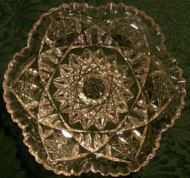 Brilliant Cut Glass Ice Cream Plate