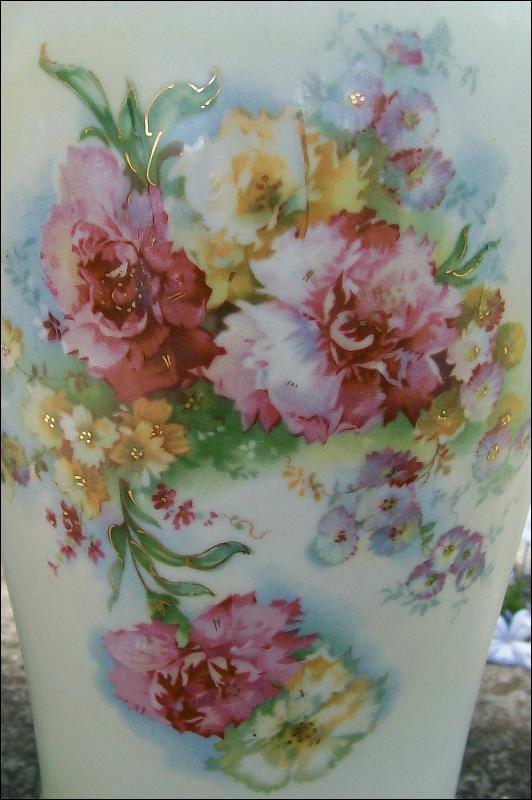 Austrian Porcelain Vase Grecian-Style 14.5