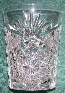 Libbey Cut Glass Tumbler Brilliant/New Brilliant Clear 1905-20 3.75