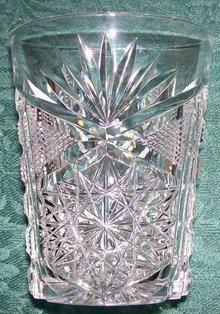 Libbey Cut Glass Tumbler Brilliant/New Brilliant Clear 1905-20 3.75