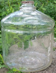 Perfection Oil Stove Embossed Clear Glass Bottle Ca. 1923