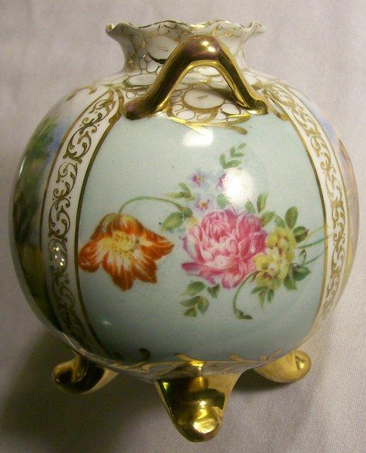 Angelica Kaufmann Decaled Ceramic Vase Austria Mark