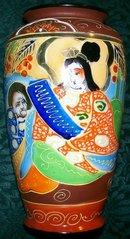 Satsuma-style Ceramic Vase Japan 1930s 6