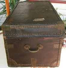 Chinese Export Trunk with Bramah Lock