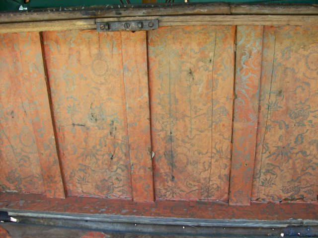 Chinese Export Trunk with Bramah Lock Early 1800's Camphor Wood/Leather As Is