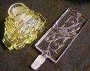 Czechoslovakian Cut Glass Perfume with Stopper