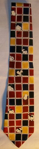 Peanuts/Snoopy/Joe Cool Silk Neck Tie