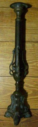 Bronze Altar Candlestick:  1800's