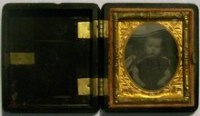 Ambrotype of Child in Union Case:  1/16th Plate