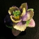 Figural Flower Pin:  Coalbrook China