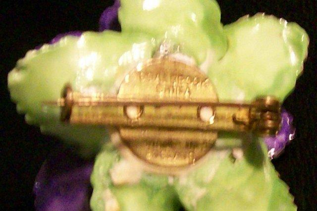 Coalbrook China Figural Flower Pin Ca. 1960's England 1.5