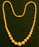 Elephant Ivory Carved  Necklace:  Mid-1900's