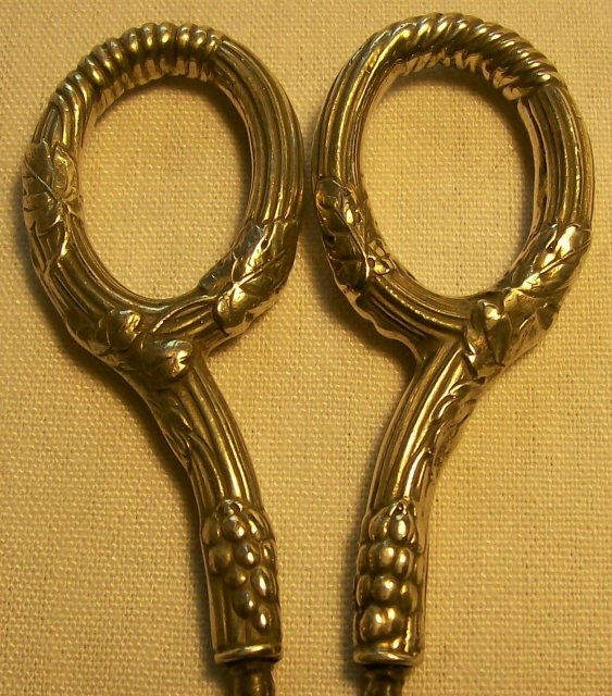 Gorham Sterling Grape Shears: Late 1800's