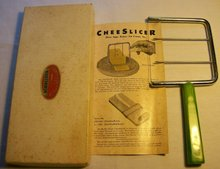 Bakelite/Catalin Cheese Slicer with Box & Brochure