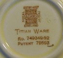 Adams Titian Ware Saucer: