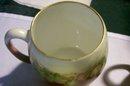 T&V Limoges Porcelain Mug Set:  Six Different Hand-Painted Fruit Designs
