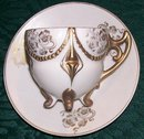 Art Nouveau Ceramic Demitasse Footed Cup & Saucer #7050