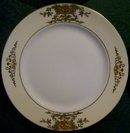 Noritake Porcelain Raised/Encrusted Gold Plate Set/4 #42200 Ca. 1918 8.75