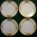 Noritake Raised Gold Plate Set: No. 42200