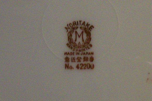 Noritake Porcelain Raised/Encrusted Gold Plate Set/4 #42200 Ca. 1918 8.75