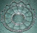 Imperial Glass Crocheted Crystal Nappy/Shallow Bowl  Clear 6.75