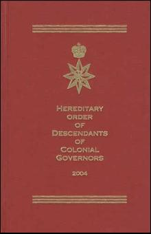Hereditary Order of Descendants of Colonial Governors Linegage Book II (Genealogy)
