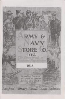 Army & Navy Store Co Inc 1918 Catalog Reprint