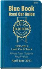 Kelley Blue Book Used Car Guide April - June 2013