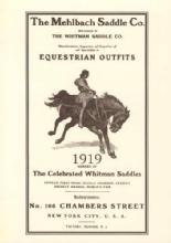 The Mehlbach Saddle Co Equestrian Outfits 1919