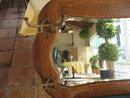 Oak Beveled Glass Hall Mirror