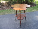 Oak Clover Leaf Parlor Table