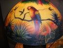 REVERSE LAMP W/LOVE BIRDS