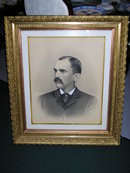 ORIG. GOLD FRAME W/CHALK DRAWING/NEVER OPEN