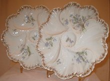 2 Limoges Oyster Plates
