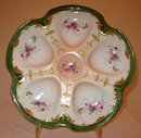 Pair Limoges Oyster Plates