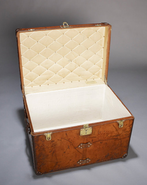 Louis Vuitton Vintage Leather Trunk, circa 1905.