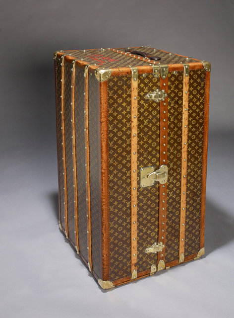 Vintage Louis Vuitton Wardrobe Trunk, circa 1920.