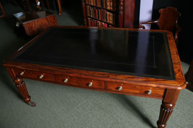 An English Period Writing Table in Mahogany