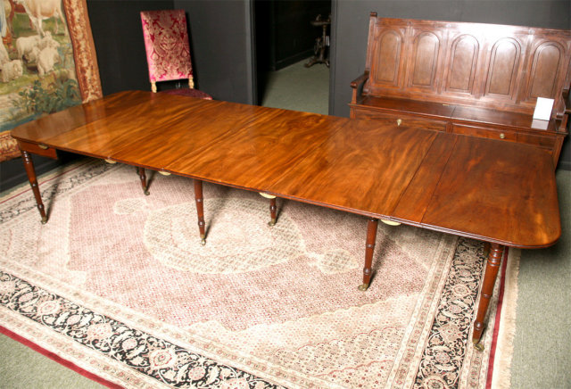 An English Campaign Extending Dining Table