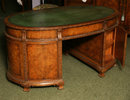 An English Oval / Elipse Shaped Partners Desk