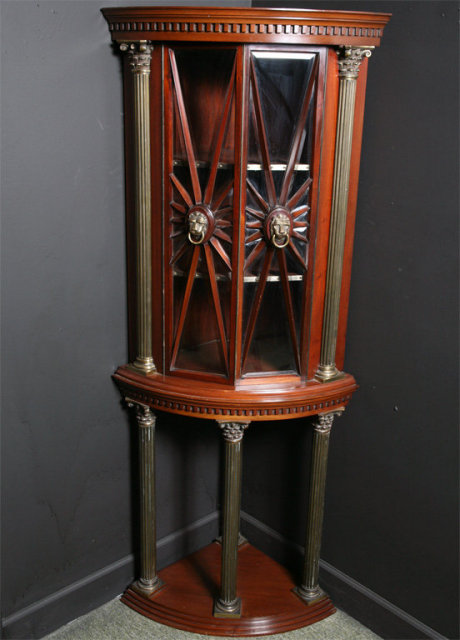 An Exceptional Corner Dislay Cabinet