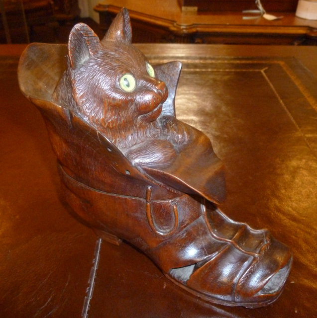 Black Forest Cat in a shoe.